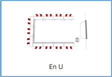 Salle en U
